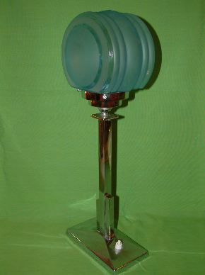 CHROME ART DECO LAMPS #09