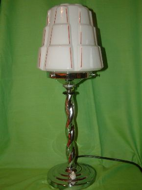 CHROME ART DECO LAMPS #03