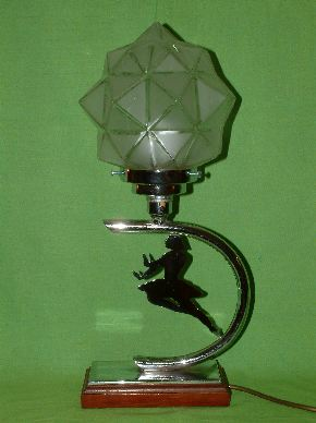 ART DECO LADY LAMPS #04