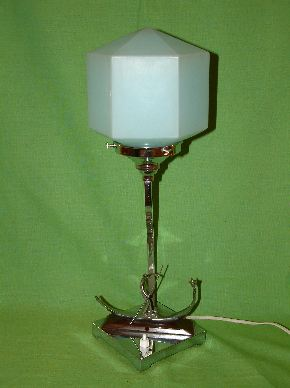 CHROME ART DECO LAMPS #05