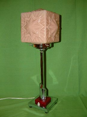 CHROME ART DECO LAMPS #12