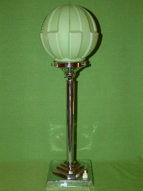 CHROME ART DECO LAMPS #13