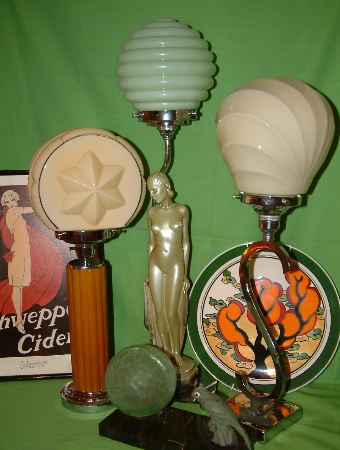 art deco table lamps #01
